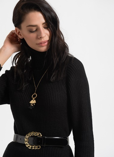 Styletag Triko Tunik Siyah